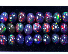 27.96cts Natural Ethiopian Welo Smoked Opal Lots / HM3103