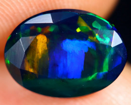 1.76cts Natural Ethiopian Welo Faceted Smoked Opal / HM3124