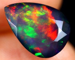 4.07cts Natural Ethiopian Welo Faceted Smoked Opal / HM3131