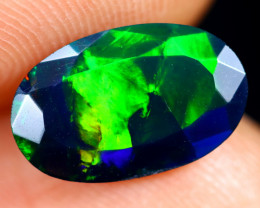 1.19cts Natural Ethiopian Welo Faceted Smoked Opal / HM3132