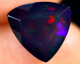 4.02cts Natural Ethiopian Welo Faceted Smoked Opal / HM3133