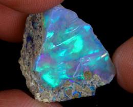 17cts Natural Ethiopian Welo Rough Opal / PA580