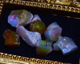 SALES 50.50Ct Multi Color Play Ethiopian Welo Opal Rough Lot G1202/R2