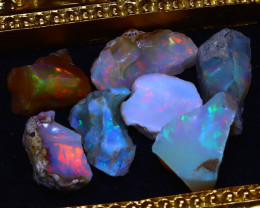 SALES 45.12Ct Multi Color Play Ethiopian Welo Opal Rough Lot G1204/R2