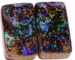 27.35 CTS QUALITY BOULDER OPAL POLISHED PAIR INV- 2312-investmentopals