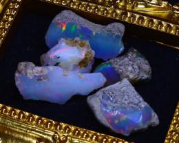 SALES 47.45Ct Multi Color Play Ethiopian Welo Opal Rough Lot G1301/R2