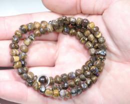 Boulder Opal Matrix Beaded Necklace  (46cm Long) Code N0477