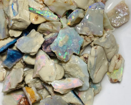 Multicolour Rough Crystal Seam Straight Off the Mine #544
