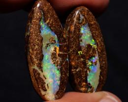 Boulder Opal Polished Pair 42.50 Carats AOH-824 australianopalhunter