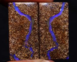 Boulder Opal Polished Pair  AOH-829 australianopalhunter