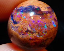 $1 NR Auction 6.22ct Mexican Matrix Cantera Multicoloured Fire Opal