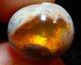 $1 NR Auction 3.88ct Mexican Matrix Cantera Multicoloured Fire Opal