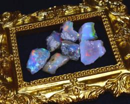 SALES 42.80Ct Multi Color Play Ethiopian Welo Opal Rough Lot G1702/R2