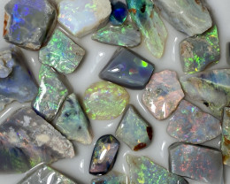 85.90 ct Opal Rough Lot Black Opals Lightning Ridge BORA150621
