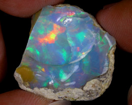 24cts Natural Ethiopian Welo Rough Opal / WR8640