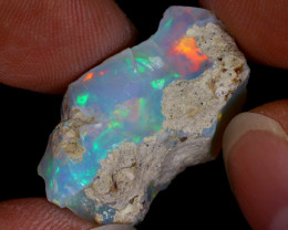 17cts Natural Ethiopian Welo Rough Opal / WR8653