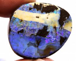 42.75 cts boulder opal prefinished rub  ado-9702 adopals