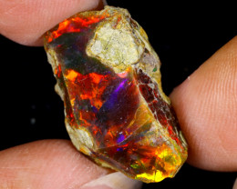 13cts Natural Ethiopian Welo Rough Opal / WR8765