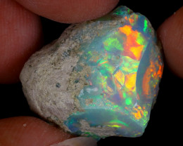 23cts Natural Ethiopian Welo Rough Opal / WR8784