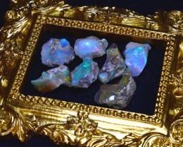 SALES 46.56Ct Multi Color Play Ethiopian Welo Opal Rough Lot G1802/R2