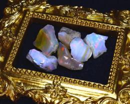 46.90Ct Multi Color Play Ethiopian Welo Opal Rough Lot G1804/R2