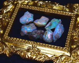 48.55Ct Multi Color Play Ethiopian Welo Opal Rough Lot G1805/R2