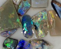 55.90 ct Opal Rough Lot Black Opals Lightning Ridge BORA150621