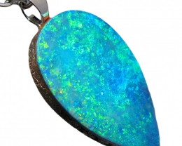 Australian Opal Pendant Solid Sterling Silver 5.3ct