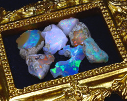 45.40Ct Multi Color Play Ethiopian Welo Opal Rough Lot G1902/R2