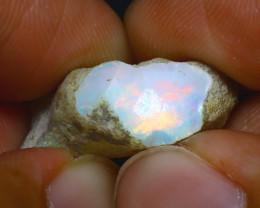 12.09Ct Multi Color Play Ethiopian Welo Opal Rough H1919/R2