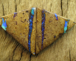 67cts, BOULDER PIPE OPAL~PAIR.