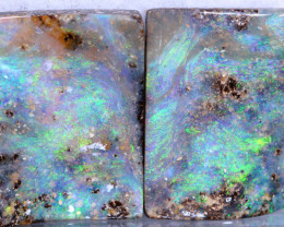 39.24-CTS  BOULDER  OPAL  PAIR PRE DRILLED  NC-9625   Niceopals