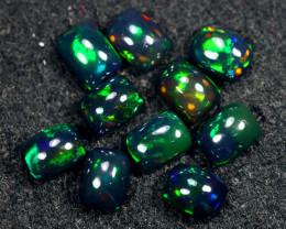 9.73cts Natural Ethiopian Welo Smoked Opal LOTS / BF8698
