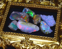 SALES 53.06Ct Multi Color Play Ethiopian Welo Opal Rough Lot G2007/R2