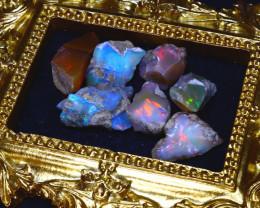 SALES 52.68Ct Multi Color Play Ethiopian Welo Opal Rough Lot G2008/R2