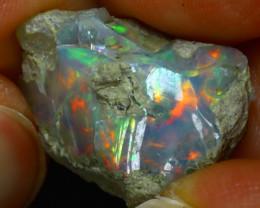 10.42Ct Multi Color Play Ethiopian Welo Opal Rough H2110/R2
