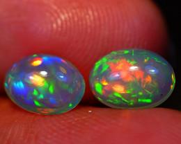 8X6 MM Galaxy Pattern!! Welo Ethiopian Opal Pair-R197