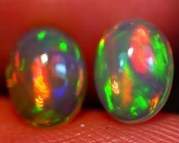 8X6 MM Broadflash Pattern!! Welo Ethiopian Opal Pair-R199