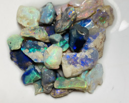 Plate of Colours- 84 CTs of Bright Colourful Rough Cut #617