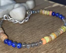 Lapis, Labradorite & OPAL Beads Bracelet 428