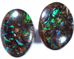 26.78 cts  Koroit opal oval calibrated pair [BMB1439]