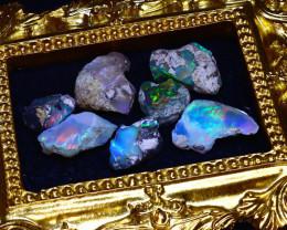 SALES 44.60Ct Multi Color Play Ethiopian Welo Opal Rough Lot G2302/R2