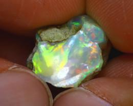 7.53Ct Multi Color Play Ethiopian Welo Opal Rough J2204/R2
