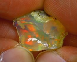 6.34Ct Multi Color Play Ethiopian Welo Opal Rough J2207/R2