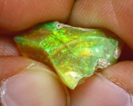 6.70Ct Multi Color Play Ethiopian Welo Opal Rough J2216/R2