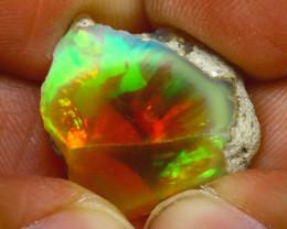 9.50Ct Multi Color Play Ethiopian Welo Opal Rough H2310/R2