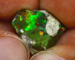 6.78Ct Multi Color Play Ethiopian Welo Opal Rough H2312/R2