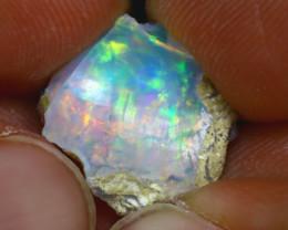 5.96Ct Multi Color Play Ethiopian Welo Opal Rough H2319/R2