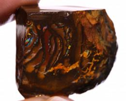 Koroit Boulder Opal Faced Rough DO-2546  - downunderopals