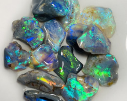 Little Gem Cutters Bright Rough Nobby Opals- 19 CTs of Cutters #662